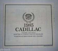 Elektrischer Schaltplan / Wiring Diagram Cadillac Fleetwood Brougham DFI 1985