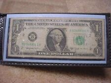 1963--B $1 JOSEPH W BARR FEDERAL RESERVE NOTE IN HOLDER--NO RESERVE!!!!   #2