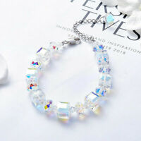 Fashion Women AB Crystal Stretch Bracelet Adjustable Beaded Bangle Jewelry Gifts