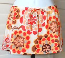 Raisins Floral Multi Swim Cover Skirt Sz S