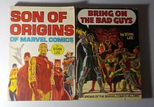 2 Collectible Books by Stan Lee: BRING ON THE BAD GUYS + SON OF ORIGINS