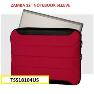"TARGUS 12"" ZAMBA SLEEVE NOTEBOOK CARRY BAG RED TSS18104US , SHOCK ABSORBING"