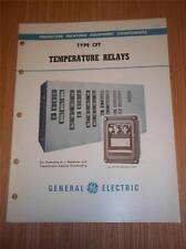 Vtg Ge General Electric Catalog~Type Cft Temperature Relays~1949~Brochure