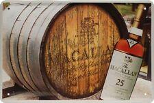 Escudo de chapa 20x30 Macallan un whisky de malta escoces whisky whisky bar escudo de metal