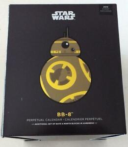 Nycc 2018 Excl Hallmark Star Wars Doré Variante BB-8 Calendrier Perpétuel Ltd Ed
