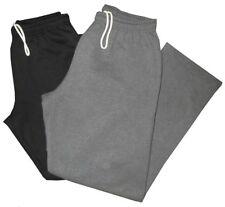 2 PREOWNED MINT DARK GRAY & BLACK GILDAN OPEN BOTTOM SWEATPANTS GYM PANTS XL
