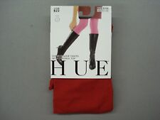 NWT Women's Hue Super Opaque w/ Control Top Tights Size 3 Pimento #637K