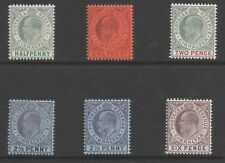 GIBRALTAR  EVII 1903 CROWN CA  SELECTION OF 6 FRESH MINT CAT £134