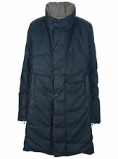 $970 Poeme Bohemien Black Reversible Padded  Men's Coat style L-10