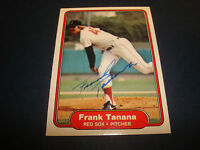 Frank Tanana Red Sox Angels 1982 Fleer #309 Signed Authentic Autograph Card A9