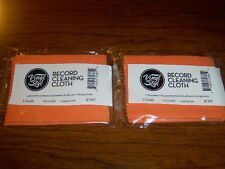 "VINYL STYL  RECORD  CLEANING CLOTH 8""X9"" LUBRICATES SURFACE & BUILD UP SET OF 2"