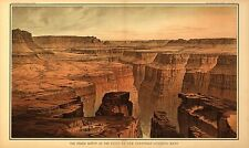 Panoramic View Grand Canyon from Toroweap Reproduction Old Antique Print Poster