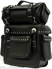 Motorbike Motorcycle Biker Large Sissy Bag Saddle Bag Reinforced Harley Style