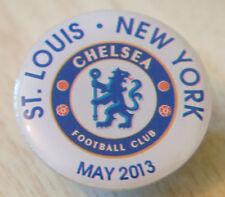 CHELSEA FC RARE 2013 USA TOUR BADGE ST LOUIS & NEW YORK Stud fitting 25mm Dia