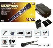 NEW MAGIC SING ET25K SPANISH ENGLISH 2000 song karaoke FREE Bag Binder DUET MIC