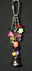 USA Jingle Jangle, Bird Toy Cockatiel Parakeet Parrotlet Lovebird, Beads Rings
