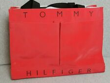Vintage Tommy Hilfiger Spell Out Tote Carry On Vinyl bag Red