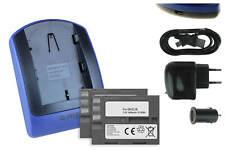 2x Baterìas + USB Cargador EN-EL3e para Nikon D80, D90, D200, D300, D300S, D700