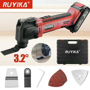 20V Cordless Oscillating Multi Tool Cutter Blade 10p Triangle Sanding Sheets Pad