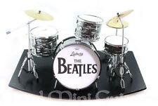 Miniature Drum Kit Set THE BEATLES. Ringo Starr with Mini Stage