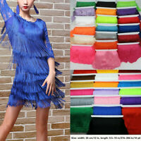 1/10Yard Long Tassel Fringe Trim 30cm/12'' Fringing Drop Latin Costume Dress