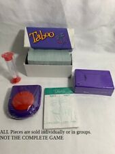 U-PICK NEW!!! 2009 TABOO Replacement  pieces timer scorepad buzzer holder cards