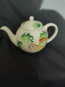 Baughan ceramic teapot Hand painted Owl decoration 1.5 pints excellent condition
