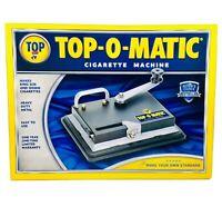 Top-O-Matic Cigarette Maker Tobacco Injector Machine Makes Kings & 100s NIB