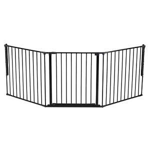 BabyDan Flex 35.4-87.8 Large Size Metal Safety Baby Gate & Room Divider, Black