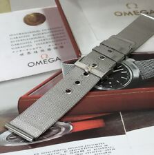 OMEGA 20mm Silver Logo Buckle 20mm MESH METAL Generic STRAP.