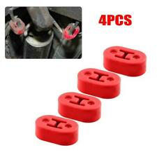 4X Red 2 Holes 12mm Universal Car Rubber Exhaust Tail Pipe Mount Brackets Hanger