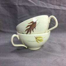 FRANCISCAN AUTUMN LEAVES CHINA Earthenware Lot of 2 Cups Tea Cups Fall Setting