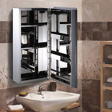 HOMCOM Bathroom Cabinet Mirror Front Wall Stainless Steel Storage