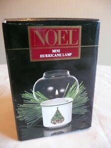 NOEL Christmas Tree Mini Hurricane Lamp w/ Votive House of Salem Candles NIB