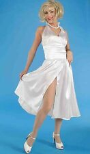 Women's Marilyn Monroe Costume White Satin Starlet Dress Size Standard