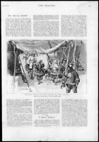 1895 - Antique Print CHINA Troops March Wei-Hai-Wei Military Shelter   (59)