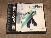 Final Fantasy VII 7 Playstation 1 PS1 w/Case Authentic Good Condition