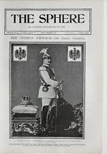 1900 PRINT GERMAN EMPEROR QUEENS GRANDSON KAISER WILHELM EMPEROR
