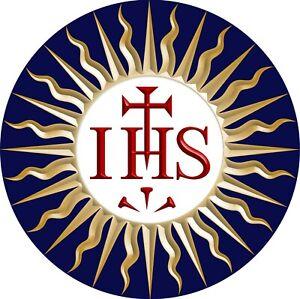 "3"" Car Decal Vinyl in Color IHS Symbol of St. Bernardine of Siena"