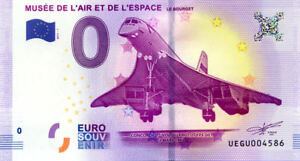 93 LE BOURGET Concorde, 2017, Billet Euro Souvenir