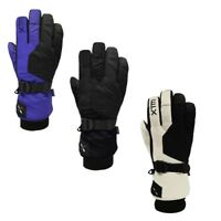 XTM Les Triomphe Ladies Winter Snow Ski Gloves Black White Purple S, M, L