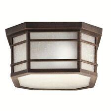 Kichler Cameron Outdoor Ceiling 3Lt, Prairie Rock, White Etched Linen - 9811PR