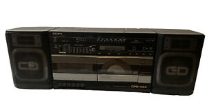 Vintage 1988 Sony CFD-444 AM/FM Stereo Compact Disc Cassette-Corder Boombox
