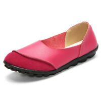 Soft Comfy Slip on Pattern Match Casual Flat Shoes