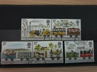 Great Britain 1980 150th Anniv of Liverpool and Manchester Rail 5 stamp set used