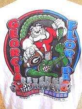 Georgia Bulldogs vs Florida Gators REVENGE ON THE RIVER 04 T-Shirt Size LRG~NWT