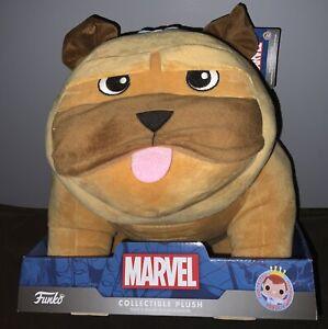"""Marvel Funko: Inhumans LOCKJAW large 12"""" Plush - Bulldog  NEW IN BOX! w/ Tags"""