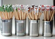 CHRISTMAS STOCKING FILLERS DECORATIVE PENCILS ASSORTED PACK OF 5