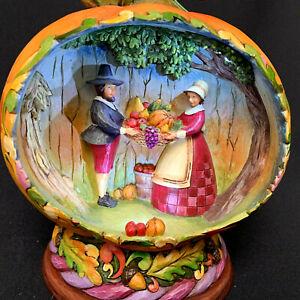 Jim Shore Pumpkin Pilgrins Blessings Of The Harvest Light Up 2009