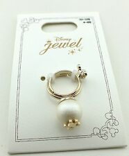 Disney Store Japan Mickey Mouse 2 Stacked Adjustable Ring Pearl Gold Plated NOC